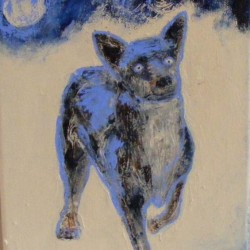 Spirit dog. Acrylic on canvas. Private collection.