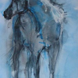 """Mr Tzar. Mixed media on paper. Consigned to <a href=""""http://www.miltonart.com/"""" target=""""_blank"""">Milton Art Gallery, Crathes</a>."""