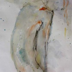 Dancer. Watercolour on paper. Private collection.