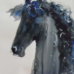 """Warhorse 1. Consigned to <a href=""""http://www.miltonart.com/"""" target=""""_blank"""">Milton Art Gallery, Crathes</a>."""