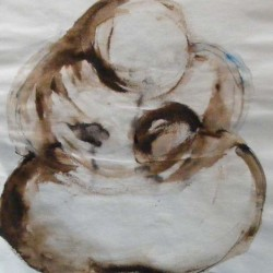 Mother earth 2. Oil on paper. Private collection.