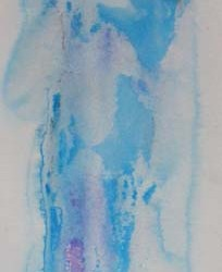 Held. Acrylic on paper. Private collection.