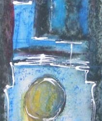 "Inner light. Mixed media on paper. <a href=""https://www.fiknox.com//contact/"" target=""_self"">For sale</a>."
