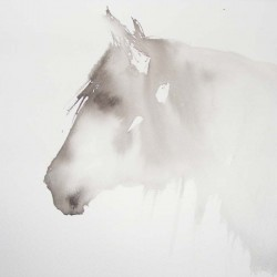 Horse spirit. Chinese ink on paper. Private collection.