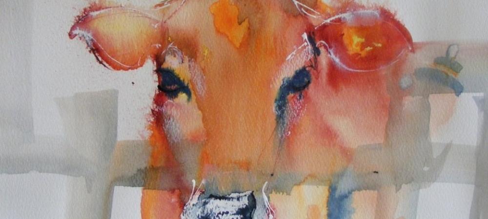 Fi Knox Art - Cow Slider Image
